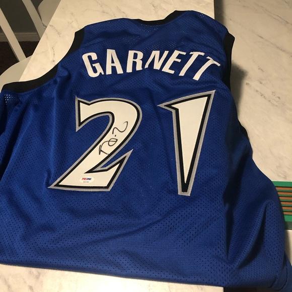 newest 3af9a 3505c Timberwolves Kevin Garnett Signed Jersey